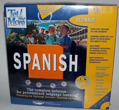 Tell Me More By Auralog (now Rosetta Stone) Spanish 1 New Language Learning NEW!