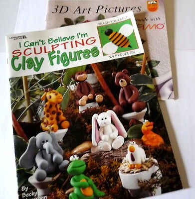 2 Polymer Clay Books I Can't Believe I'm Sculpting Clay Figures 3D Art Figures