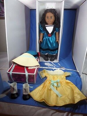 LOT American Girl Retired CECILE Doll w Box+NEW CECILE SUMMER Outfit& Accessory