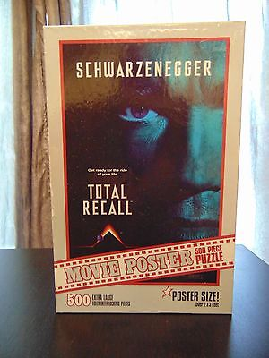 Total Recall Movie Poster Puzzle 500 Pieces 100% Complete Vintage Over 2X3 ft!