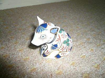 ROYAL CROWN DERBY SITTING PIGLET silver Stopper Excellent Condition
