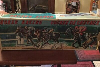 Vintage Shinsei Battery Operated Horse Racing Game Made in Japan WORKS