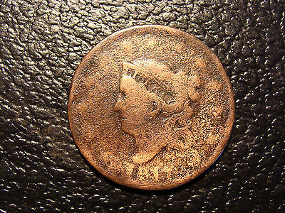 1817 Coronet Large Cent WE COMBINE ON SHIPPING