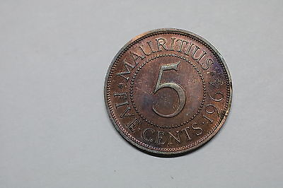 Mauritius 5 Cents 1964 Proof Very Rare A60 #k6093