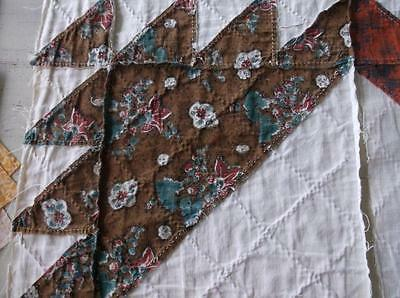 Back In Time Textiles~2 Rare Antique early 1830 quilt blocks amazing fabric~