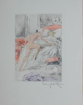 Louis Icart Original Etching Hand Signed Limited Edition No Stopping 1946 Rare