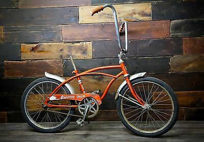 1969 Vintage HUFFY CHEATER SLICK MUSCLE BIKE Orange RAIL WHEEL SLINGSHOT RARE