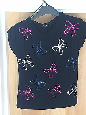 Girls Sequin T-shirt Age 12-13 Years