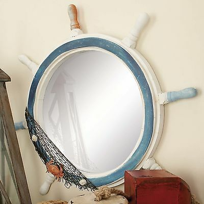 Round Ship Wheel Wall Mirror Breakwater Bay FREE SHIPPING (BRAND NEW)