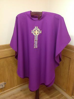 Purple Chasuble Vestment And Stole