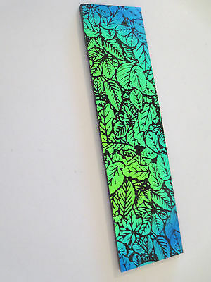 Dichroic Glass COE 90 - Green and Gold Leaves
