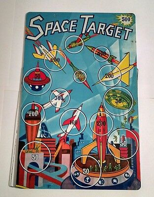 VINTAGE 1950's SUPERIOR TIN LITHO SPACE TARGET