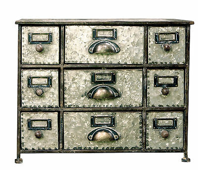 Faded Charm 9 Drawer Desktop Storage Chest American Mercantile FREE SHIPPING