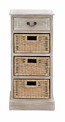 The Cool Wood 3 Basket Chest Woodland Imports FREE SHIPPING (BRAND NEW)