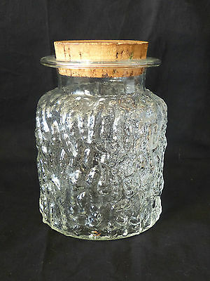 Mint! Cool 1970's Retro Vintage Glass Kitchen Canister!