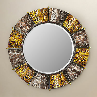 Round Beveled Wall Mirror World Menagerie FREE SHIPPING (BRAND NEW)