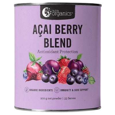 Nutra Organics Vegan Paleo Powerful Antioxidant Camu Camu Acai Berry Blend 200 g