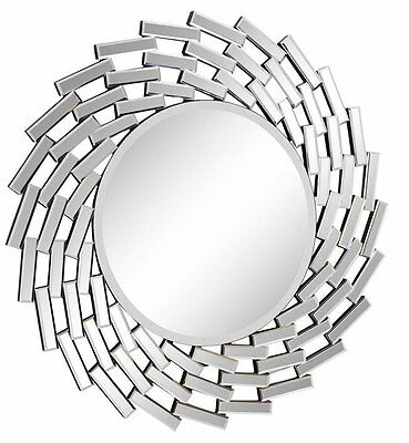 Modern Sunburst Silver Wall Mirror Elegant Lighting FREE SHIPPING (BRAND NEW)