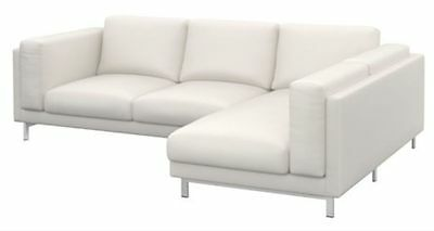 Brand New Sealed Ikea Nockeby 3 Seat Sectional Right Slipcover White 102.801.18