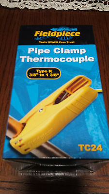 """Fieldpiece TC24 K-Type Pipe Clamp Thermocouple 3/8"""" to 1 3/8"""" REPLACES THE ATC1"""