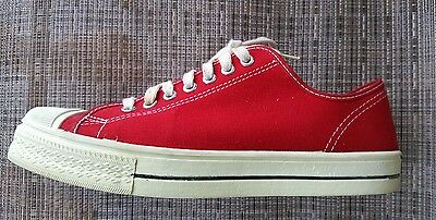 Vintage 50's Made in USA Converse Red Canvas Basketball Shoes Size 9.5 Men's.