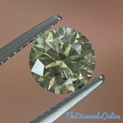Loose Diamond 1.40 Carat Round Fancy Champagne SI1 Clarity Earh Mined HD Video