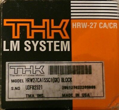 THK HRW27CA1SSC1(GK) LM Guide Block Cartridge Linear Bearing