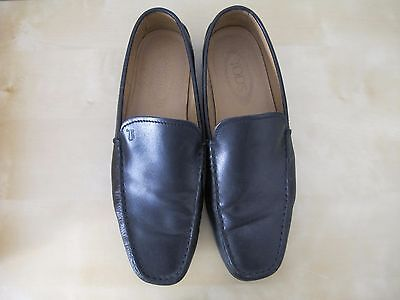 Tod's Black Leather Slip On Men's Driving Moccasins Shoes Size US 8.5