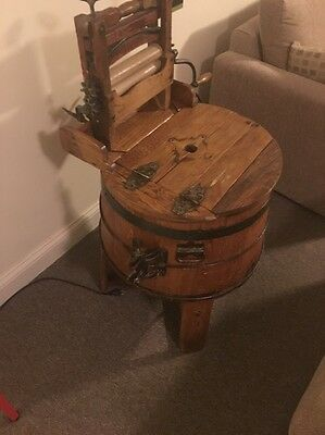 Antique Simmons Wooden Hand Operated Washing Machine Pick Up Only