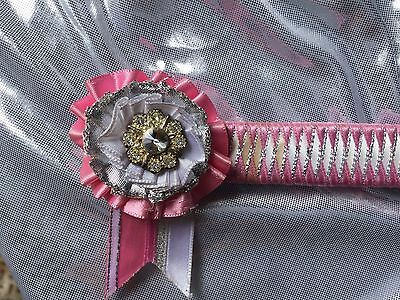 Gorgeous Pink And White Browband 13 Inch