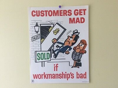 "Vintage General Motors Customers Getting Mad! 22"" Paper Poster Sign Advertisment"
