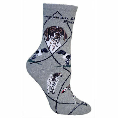 German Shorthaired Pointer Dog Breed Gray Lightweight Stretch Cotton Adult Socks