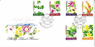 2002 - Norfolk Island -  Phillip Island Flowers  - First day cover