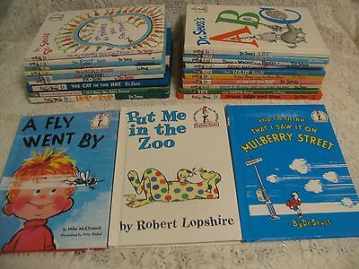 Lot of 22 DR. SEUSS Hardcover Collection Set of Beginner Books