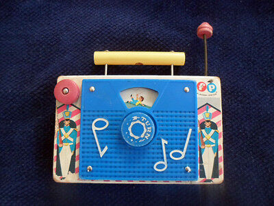 Vintage1960s Fisher Price TV-Radio Music Box Jack & Jill