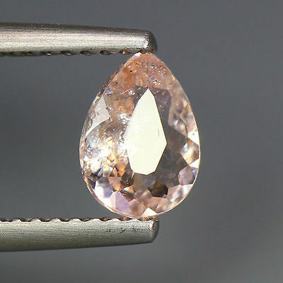 0.62 Cts_Simmering Ultra Nice Color_100 % Natural Peach Pink Morganite_Brazil