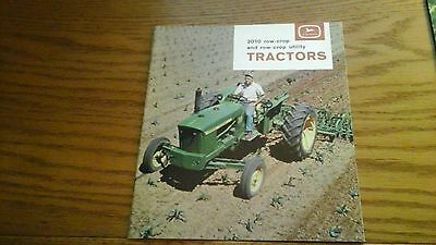 1964 John Deere Model 2010 Row Crop & Row-Crop Utility Tractor Brochure Catalog