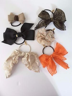 Lot 6 Korean Girl Bow Elastic Hair Band Rope Scrunchie Ponytail Holder