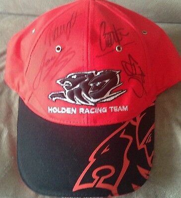Holden racing team hrt v8 supercars 2014 bathurst signed membership cap