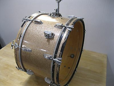 60's Vintage Champagne Sparkle Ludwig 20X12 Bass Drum w/ Tom Mounts -----> Cool!