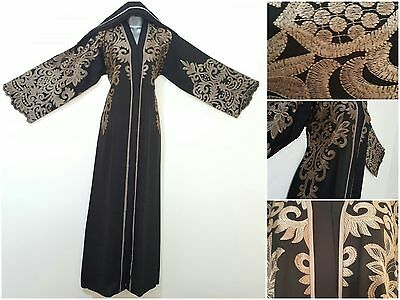 WEDDING BELTED Dubai Style JACKET Abaya Maxi Dress Farasha Modest RAMADAN / EID