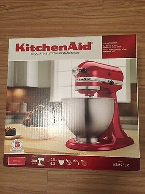 Brand New Sealed Box KitchenAid KSM95ER Ultra Power Stand Mixer, Empire Red