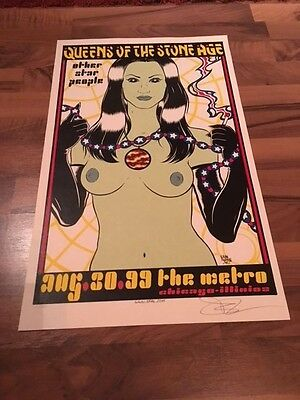 Original ALAN FORBES Art Print Poster SILKSCREEN Queens of The Stone Age SIGNED