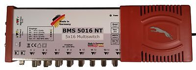 BMS 5016 NT Multiswitch 5/16 Quad Ready for 1 Satellite & 16 Subscriber