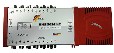 BMS 5024 NT Multiswitch 5/24 for 1 Satellite & 24 Subscriber