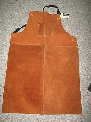 STEINER 92165 Welding Bib Apron, Leather, 36 x 24 In
