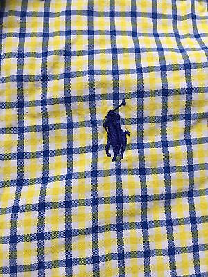 Polo Ralph Lauren Size 12 Months Boys One Piece Yellow And Blue Checkered