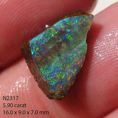 Rough Boulder Opal 5.90 ct 100% Australian Natural Rough Opal From QLD N2317