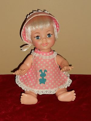 """Baby Real Live Lucy Doll 14"""" Ideal Original Outfit Excellent"""