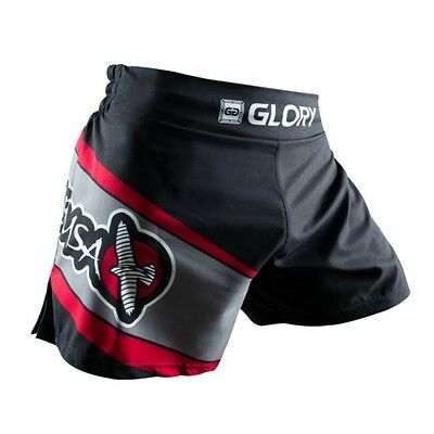 MMA Fighting Glory Red & Black Sports Breathable Tiger Muay Thai Shorts Trunks